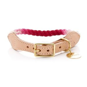 """Found My Animal Rope & Leather Collar -Ombre 16.2"""""""